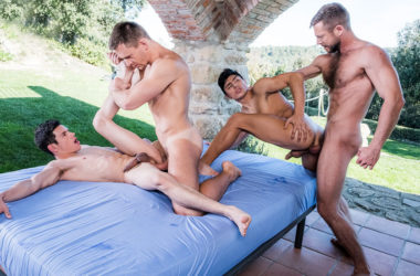 "Bulrog and Andrey Vic fuck Ricky Verez and Ken Summers in ""Fag Fuckers"" part 4"