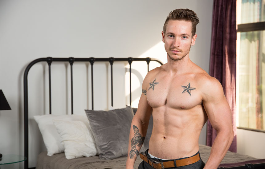 Hot and horny newcomer Griffith Hawk debuts at Next Door Studios
