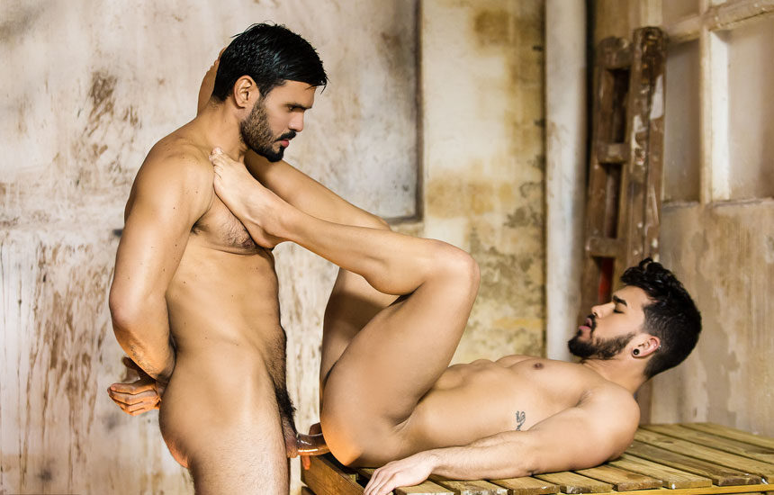 "Hung muscle top Jean Franko fucks Pietro Duarte in ""Last Chance"" part 3 from Men.com"
