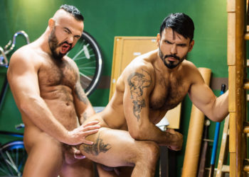 "Hot and uncut studs Jessy Ares and Jean Franko flip-fuck in ""Good Times"""