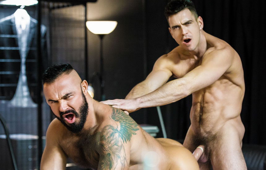 "Muscle stud Paddy O'Brian uses his thick dick to stretch Jessy Ares' ass in ""Special Service"""