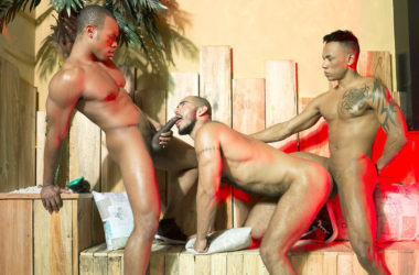 Carlos Leão, Louis Ricaute and Timarrie Baker in a raw Fuckermate threeway