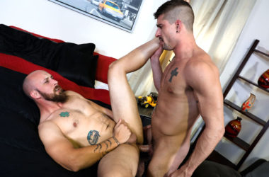"Dustin Steele takes Sean Maygers' big dick in ""It's Your Turn To Take It"""