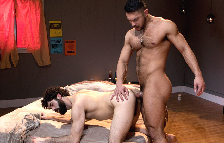 "Seth Santoro plows Tegan Zayne's ass in ""Three Wishes"" part one from Raging Stallion"