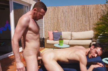 Tim Kruger fucks Valentin Braun on a sunny rooftop at TimTales