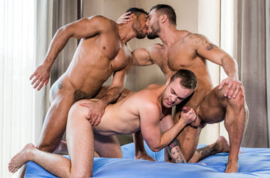 "Diego Lauzen, Jackson Radiz and Brock Magnus fuck in ""Craving Raw Dick"" part four"