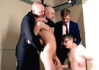 Drew Dixon gets brutally fucked & forced to cum over his son's face at CMNM