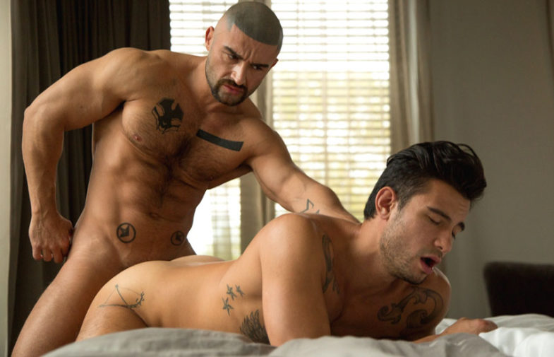 "François Sagat fucks Ricky Roman in the 3rd part of the CockyBoys series ""ALL SAiNTS"""