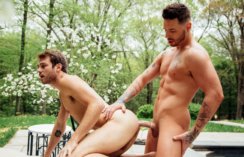 """Max Adonis debuts in """"Before The Afterglow"""" part three and rides Josh Moore's big cock"""