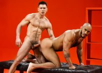 """Hairy bottom Louis Ricaute takes Paddy O'Brian's thick cock in """"Sex Wish"""" part 3"""