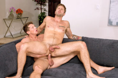 """Wesley Woods bottoms for Pierce Paris in """"Service Me!"""" part six from Falcon Studios"""