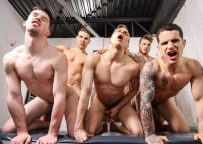 "William Seed, Pierre Fitch, Thyle Knoxx, Ethan Chase & Jordan Fox fuck in ""Snap!"" part two"