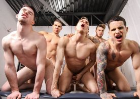 """William Seed, Pierre Fitch, Thyle Knoxx, Ethan Chase & Jordan Fox fuck in """"Snap!"""" part two"""