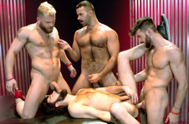 "Woody Fox, Riley Mitchel, Teddy Torres and Tegan Zayne fuck in ""Three Wishes"" part four"
