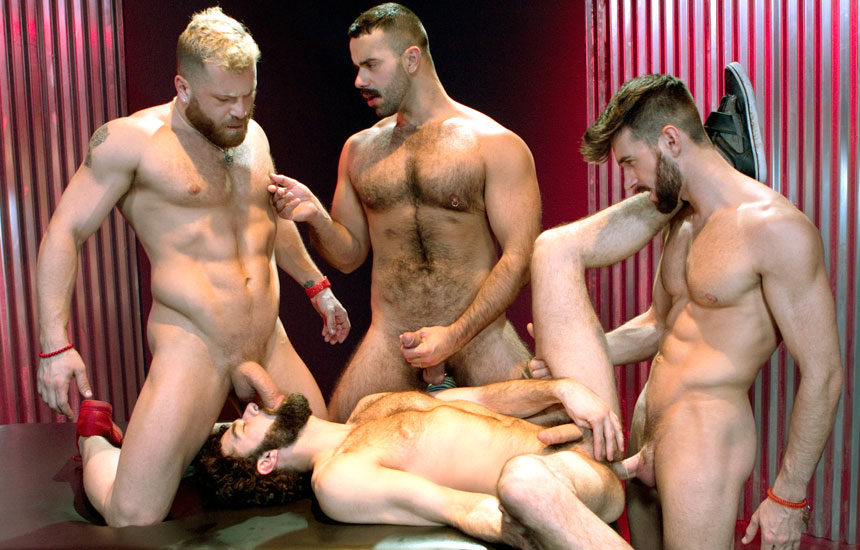 """Woody Fox, Riley Mitchell, Teddy Torres and Tegan Zayne fuck in """"Three Wishes"""" part four"""