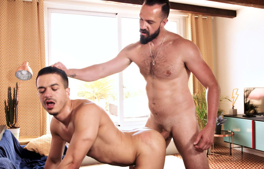 Jonathan Miranda gets his ass filled by big-dicked top Andy Onassis at TimTales