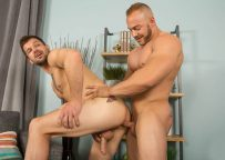 Muscle stud Brock plows Brysen's bare ass hole at Sean Cody
