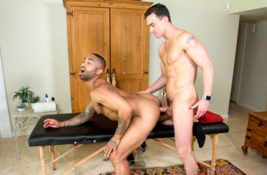 """Cade Maddox fucks Remy Cruze in the first scene from the Hot House movie """"Swim Meat"""""""