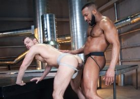 "Jay Landford raw-fucks Kurtis Wolfe in ""Raw Power"" part two from Raging Stallion"