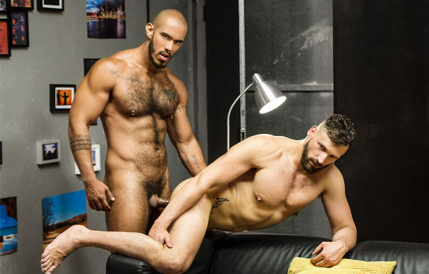 "Enzo Rimenez bottoms for Louis Ricaute in ""Homopod"" part one from Men.com"