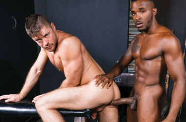 Phoenix Fellington fills Jack Andy up with his big cock at Pride Studios