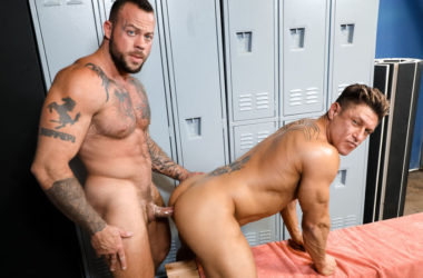 "Sean Duran plows Bryce Evans in ""Stiff Muscles"" from Pride Studios"