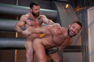 "Sergeant Miles raw-fucks Eddy Ceetee in ""Raw Power"" part three from Raging Stallion"