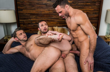 "Manuel Skye fucks with Blaze Austin and Drake Rogers in ""Servicing Daddy's Dick"" part 1"
