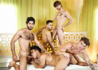 """Diego Sans, Dalton Briggs and JJ Knight fuck Ken Ott and Beaux Banks in """"The Heist"""" part 3"""