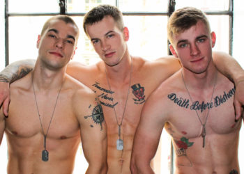 Quentin Gainz, Ryan Jordan and Princeton Price in a raw Active Duty threesome