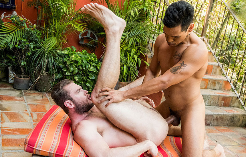 "Alejandro Castillo fucks Ace Era in ""Bareback Beefcakes"" part 3 from Lucas Entertainment"