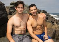 Archie buries his raw dick deep inside Manny's ass at Sean Cody