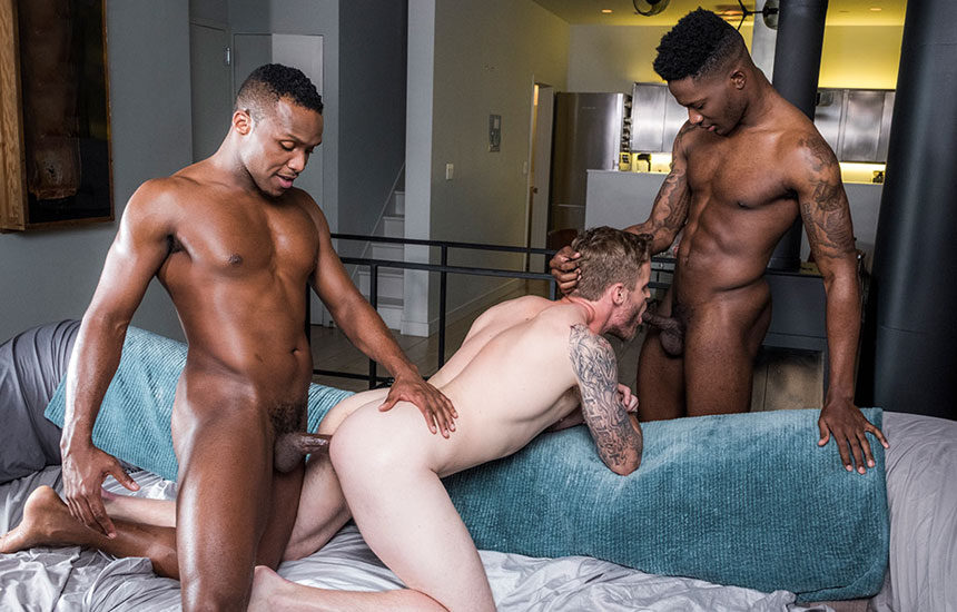 "Bama Romello and Andre Donovan tag-team Shawn Reeve in ""Black Cocks Rule"" part three"