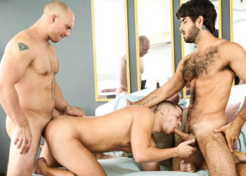 """Aston Springs gets fucked by Diego Sans and John Magnum in """"Bend and Snatch"""""""