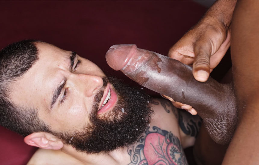 Bearded newcomer Oscar Marin takes Devon LeBron's huge dick at TimTales
