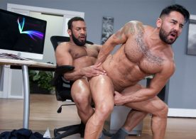 """Bruno Bernal gets fucked by his boss Jay Landford in """"Rideshare"""" part 3 – Raging Stallion"""