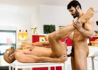 Dominic Arrow debuts at Men.com and gets fucked by hairy stud Jean Franko