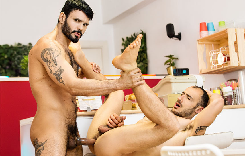"Ely Chaim bottoms for Jean Franko in ""Reformed Sinner"" part two from Men.com"