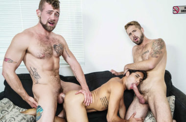 "Jay Austin and Wesley Woods fuck Titus in ""Living that Ho Life"" part two"