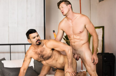 "Hot and horny studs Pierce Paris and Jean Franko flip-fuck in ""Summer Flings"" part one"