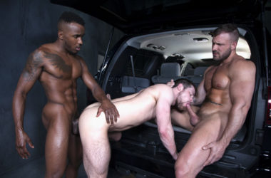 "Austin Wolf, Kurtis Wolfe and Pheonix Fellington fuck in ""Rideshare"" part 5 from Raging Stallion"