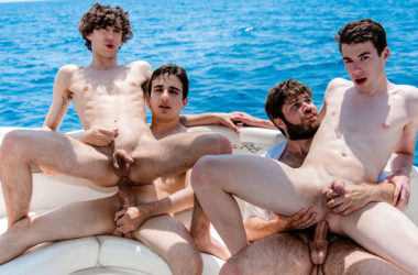 "Doryann Marguet, Jules Laroche, Paul Delay & Gabriel Lambert fuck in ""Sea, Sex and Sun"" part 2"