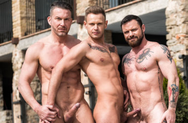 "Tomas Brand and Sergeant Miles share Yuri Orlov's bare hole in ""Daddy's Good Boy"" part 4"