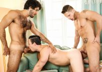 """Diego Sans, Tobias and Roman Todd fuck in """"Timid"""" part three from Men.com"""