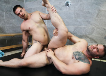 "Aspen has his way with Dax Carter's hole in ""Shower Seduction"" from Pride Studios"