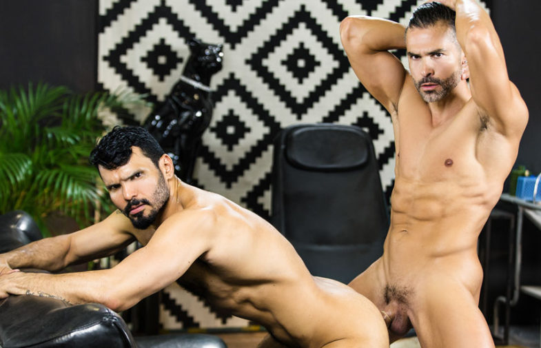 "D.O. and Jean Franko fuck each other in ""Telenovela"" part three from Men.com"