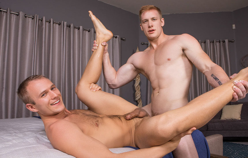 Blake takes Jax's raw 9 incher up his ass for Sean Cody