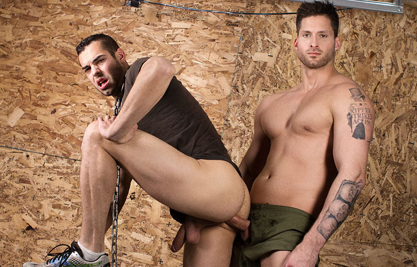 "Logan Styles gives Jack Kross a raw and deep dicking in ""Grunts"" part 2 from Bromo"