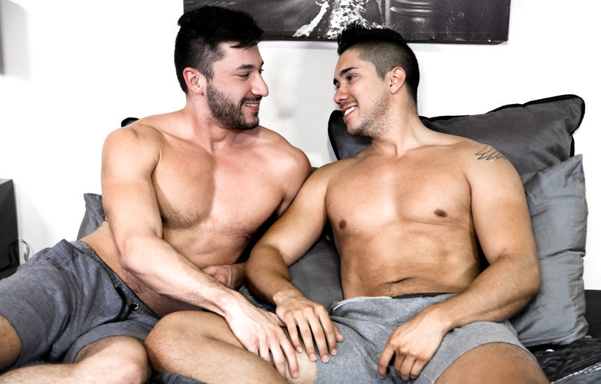 "Scott Demarco and Adrian Suarez in Pride Studios' ""The Language of Sex"""