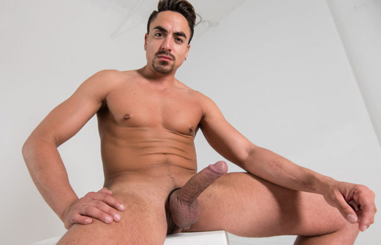 Hot stud Daniel strokes his huge uncut cock for Reality Dudes